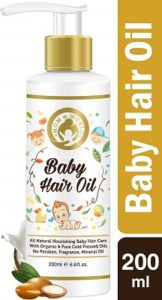 Mom and World Baby Hair Oil With Organic and ColdPressed Natural Oil for Kids