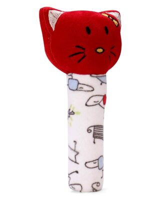 Pikipo Kitty Face Rattle
