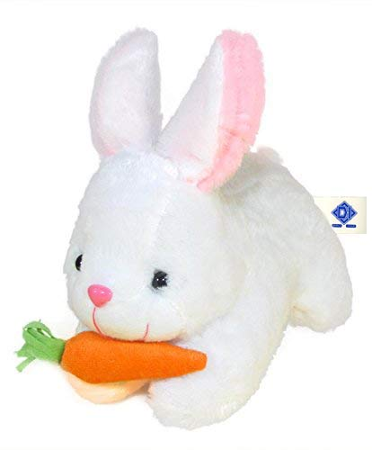 Rabbit with Carrot Stuffed Plush Toy