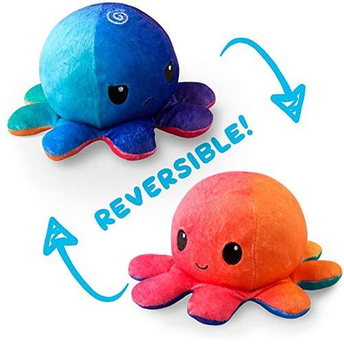TeeTurtle Reversible Octopus Stuffed Animal Toy