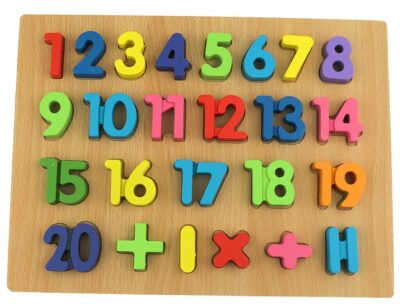 Wooden Counting Number Tray For Kids